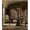 Hooker Furniture Adagio Bunching Curio with Touch Light and Rounded Top