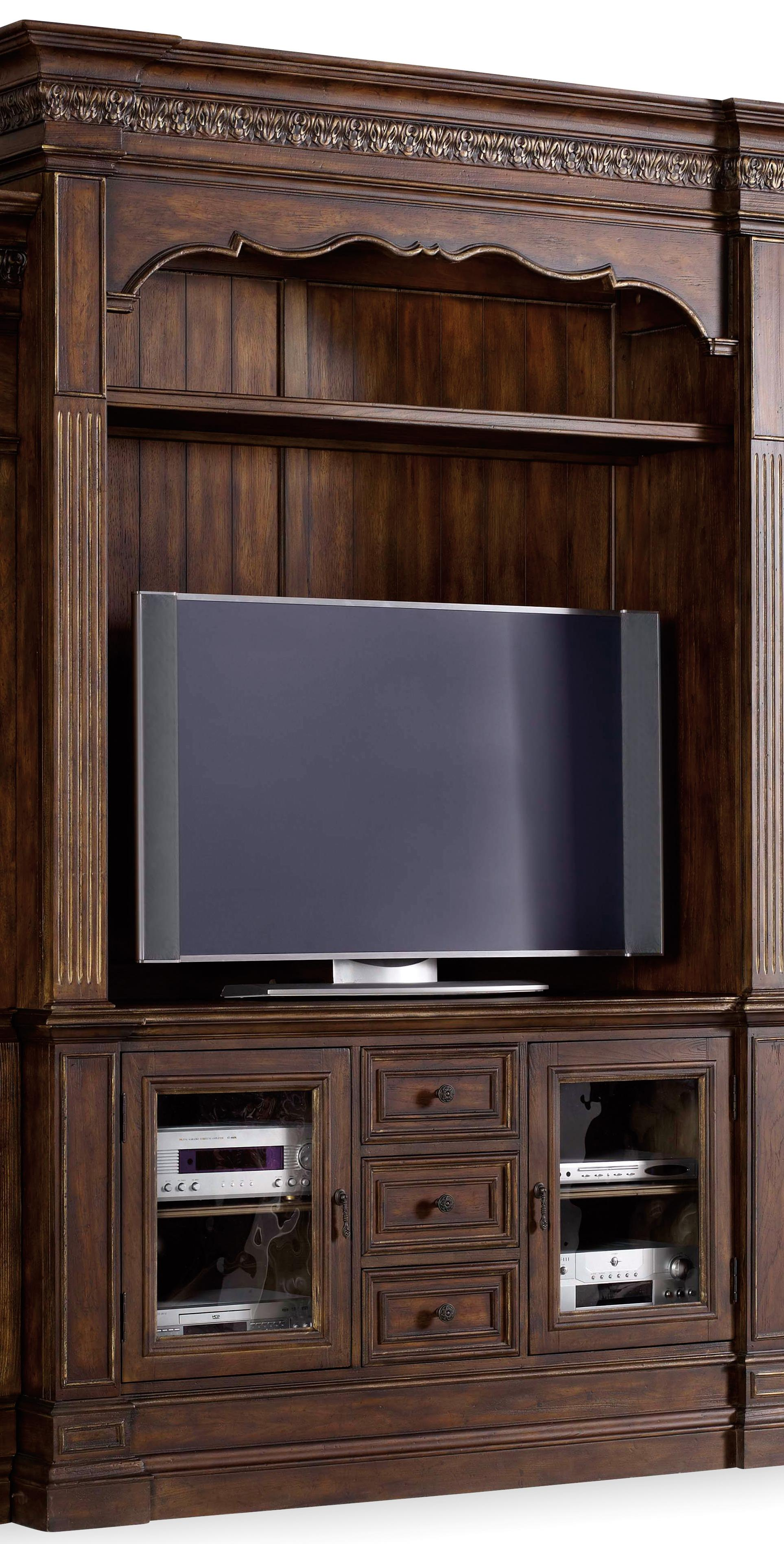 Hamilton Home Adagio Entertainment Console with Hutch - Item Number: 5091-70465+503