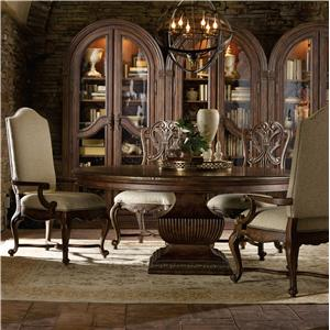 Hooker Furniture Adagio Dining Set with 72 Inch Round Table