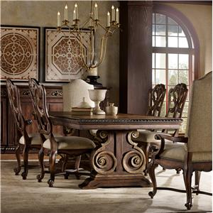 Hooker Furniture Adagio Dining Set with Rectangle Table