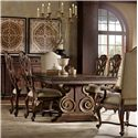 Hooker Furniture Adagio Dining set with Rectangle Table and 6 Chairs - 5091-75207+2X500+4X411