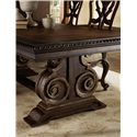 Hooker Furniture Adagio Rectangle Dining Table with Double Pedestal Base - View of Base Detail