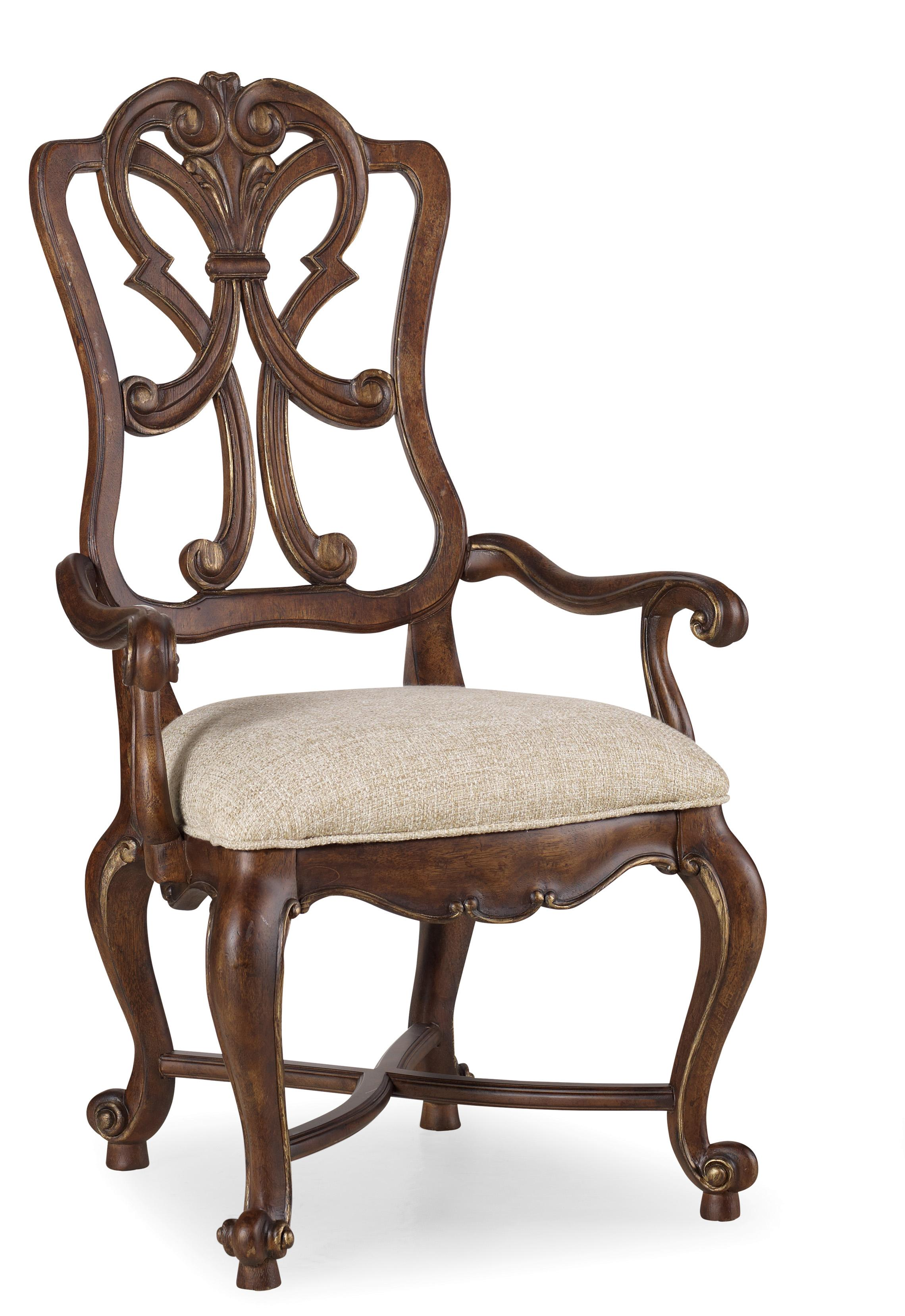 Hooker Furniture Adagio Wood Back Arm Chair - Item Number: 5091-75401