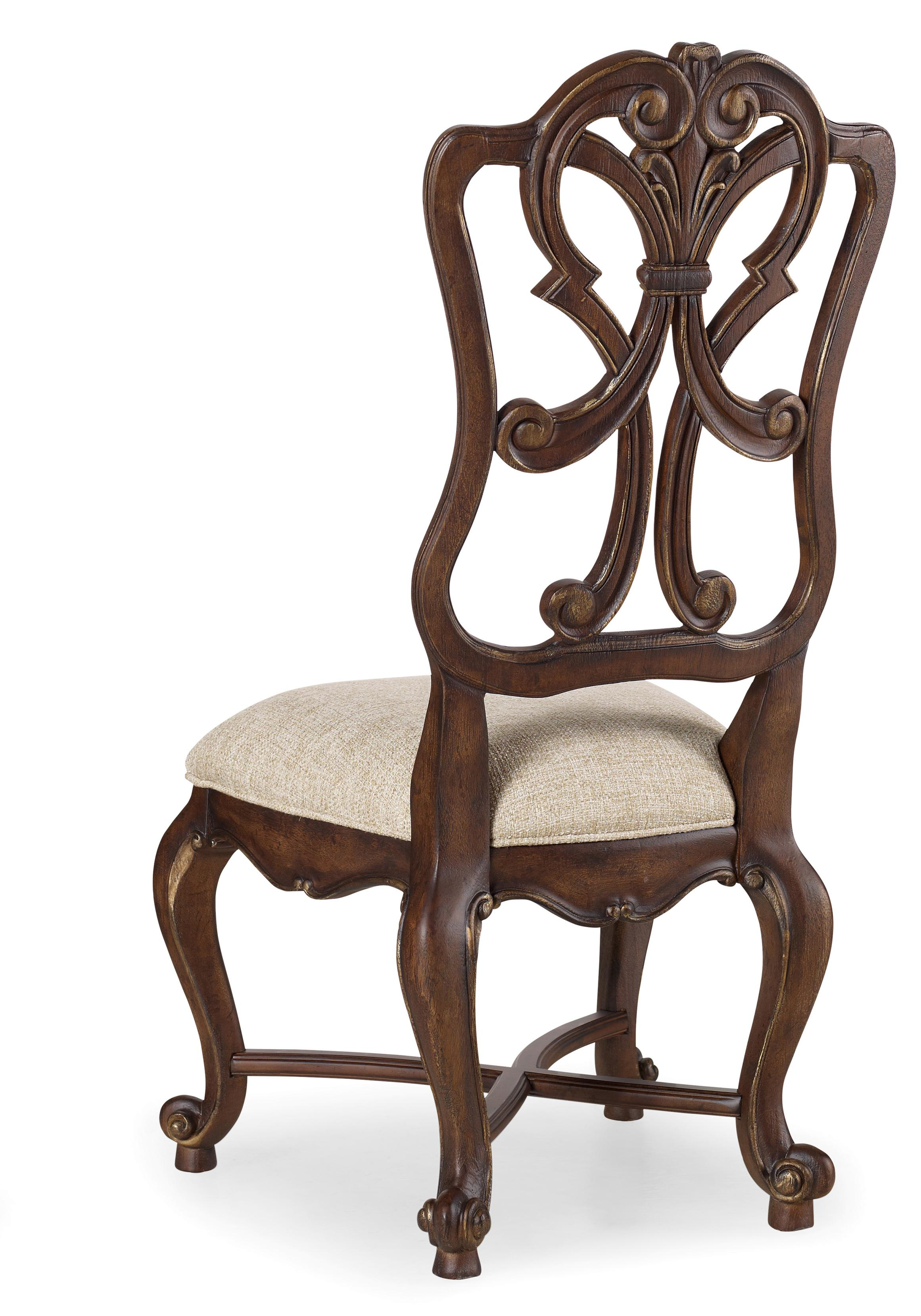 Hooker Furniture Adagio Wood Back Side Chair - Item Number: 5091-75411