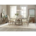 Hooker Furniture Affinity 5 Pc Dining Set - Item Number: 6050-75203-GRY+4x75410