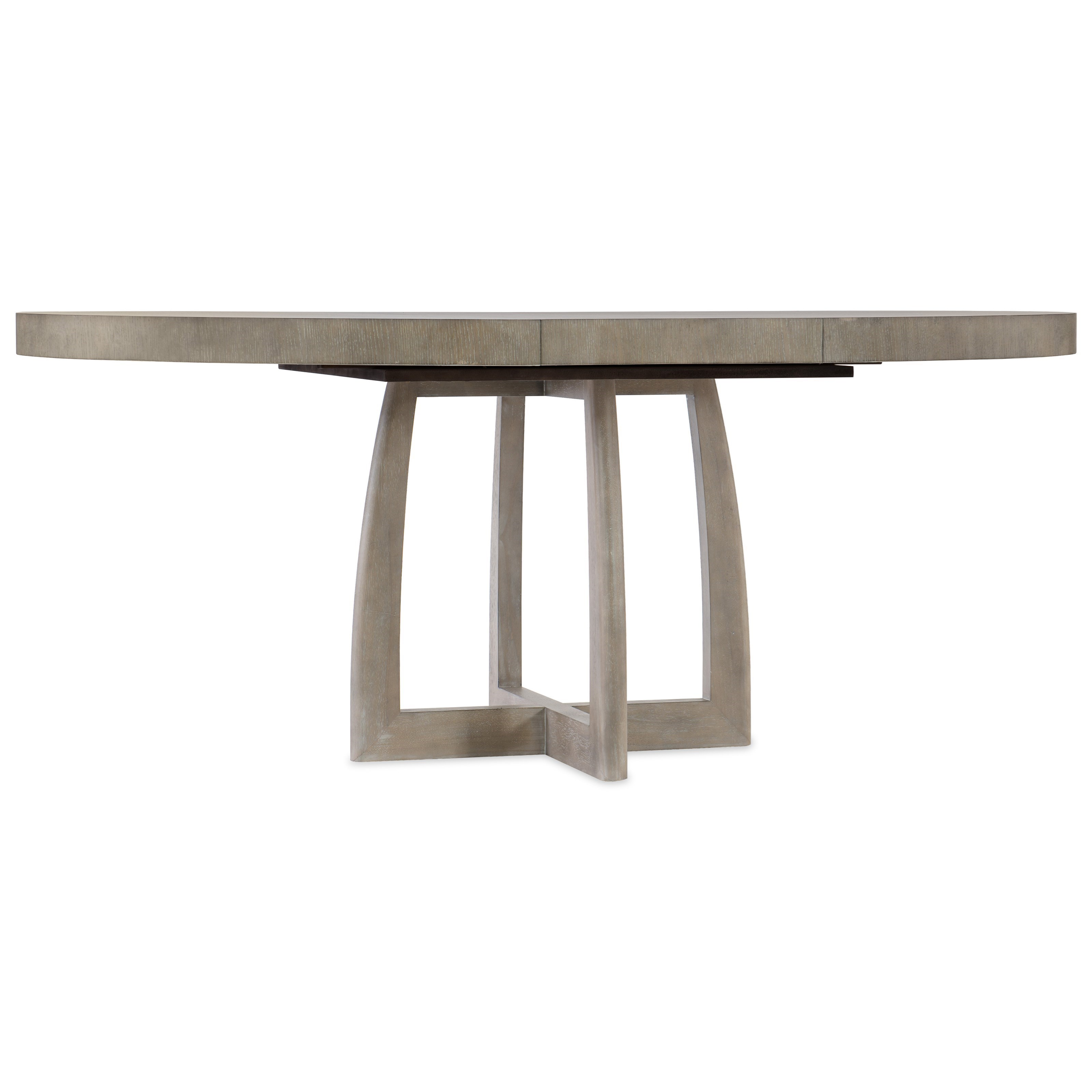 Affinity Round Pedestal Dining Table by Hooker Furniture at Miller Waldrop Furniture and Decor
