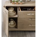 Hooker Furniture Affinity Transitional Server with 5 Drawers and 2 Adjustable Shelves