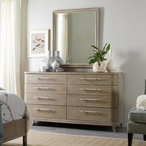 Hooker Furniture Affinity Dresser and Mirror Set