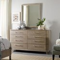 Hooker Furniture Affinity Dresser and Mirror Set - Item Number: 6050-90002+90004-GRY