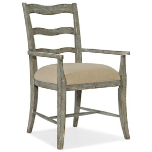 La Riva Upholstered Seat Arm Chair