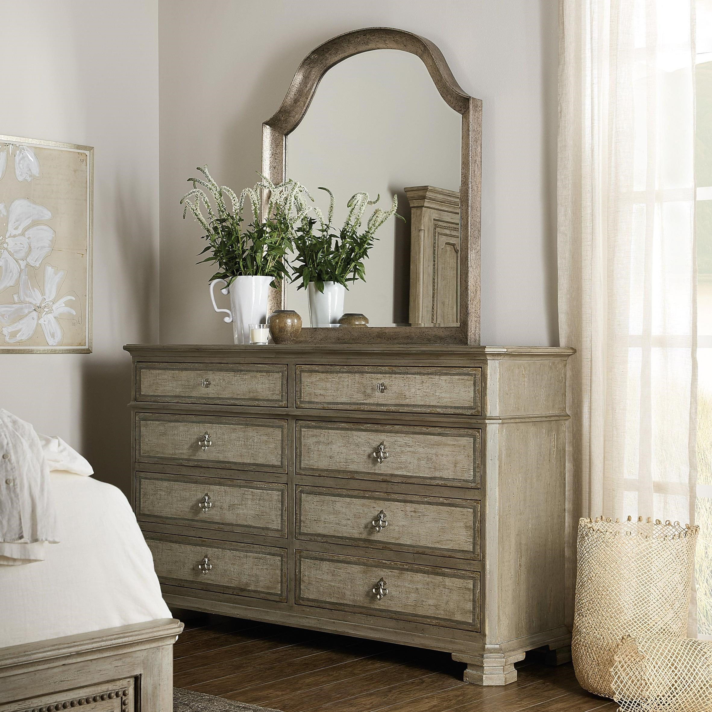 Alfresco Dresser and Mirror Set by Hooker Furniture at Alison Craig Home Furnishings