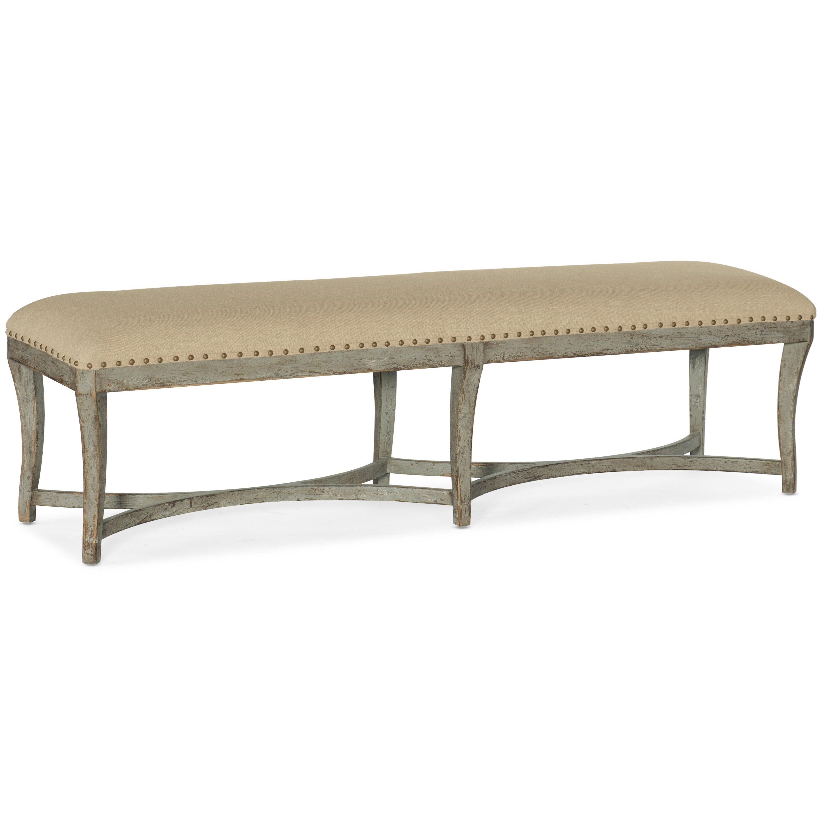 Alfresco Panchina Bed Bench by Hooker Furniture at Alison Craig Home Furnishings