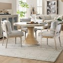 Hooker Furniture American Life-Amani 4-Piece Table and Chair Set - Item Number: 1672-75203-80+2x75312+75302