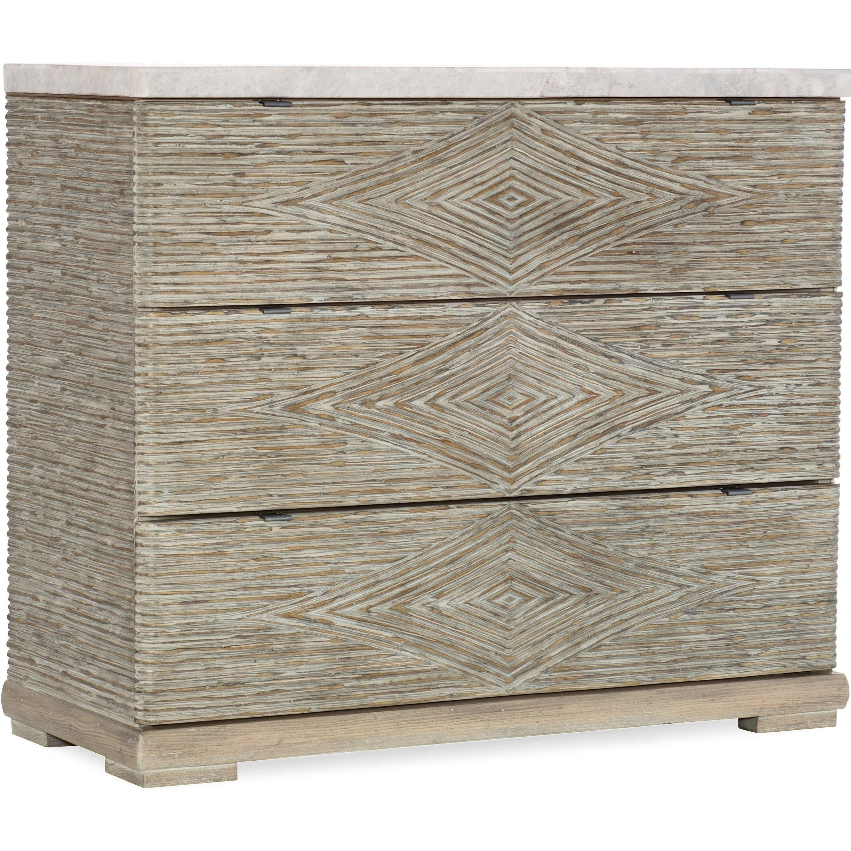 American Life-Amani Three-Drawer Accent Chest by Hooker Furniture at Miller Waldrop Furniture and Decor