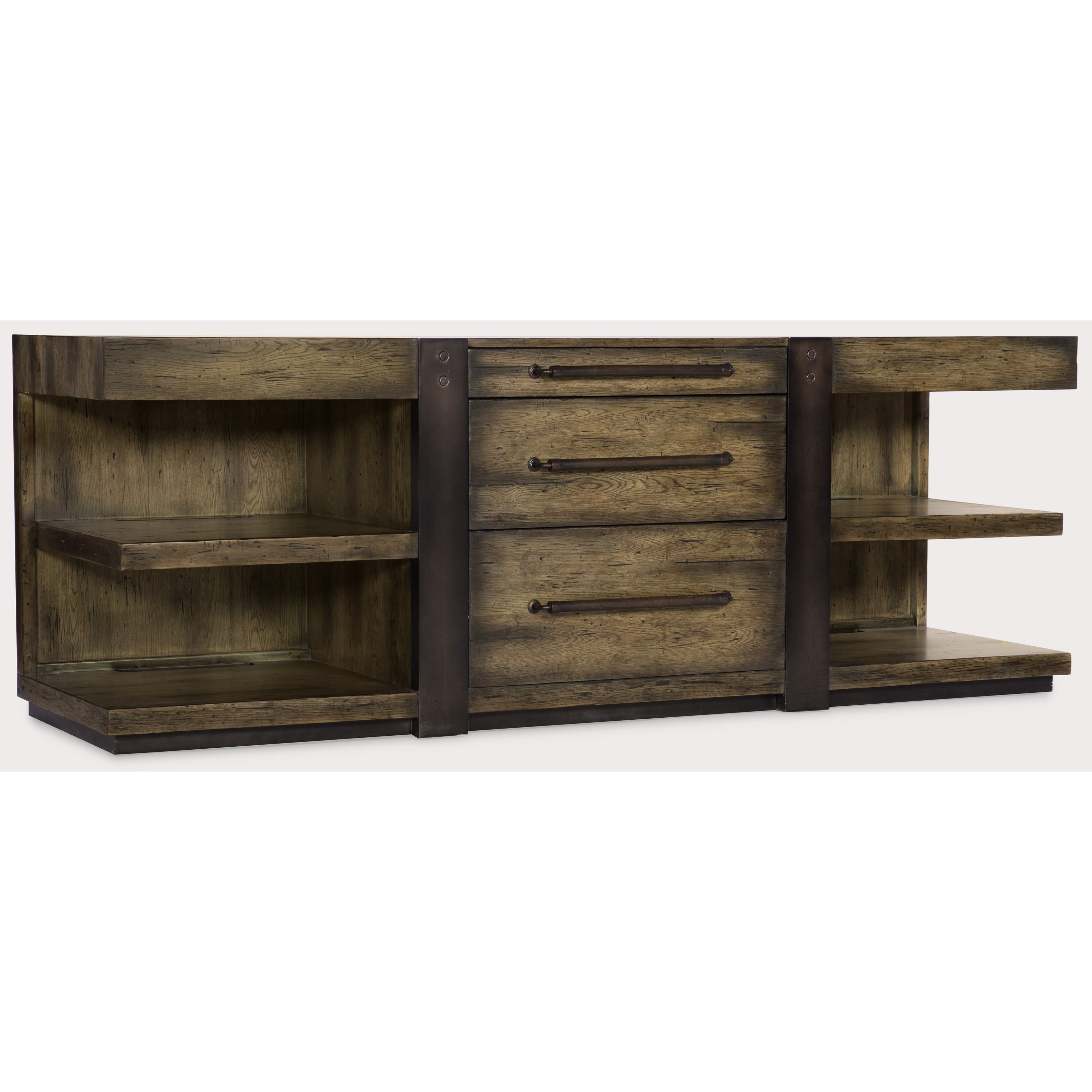 American Life-Crafted Leg Desk Credenza by Hooker Furniture at Fisher Home Furnishings