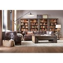 Hooker Furniture American Life-Crafted 5 Tier Bookcase with Touch Lighting