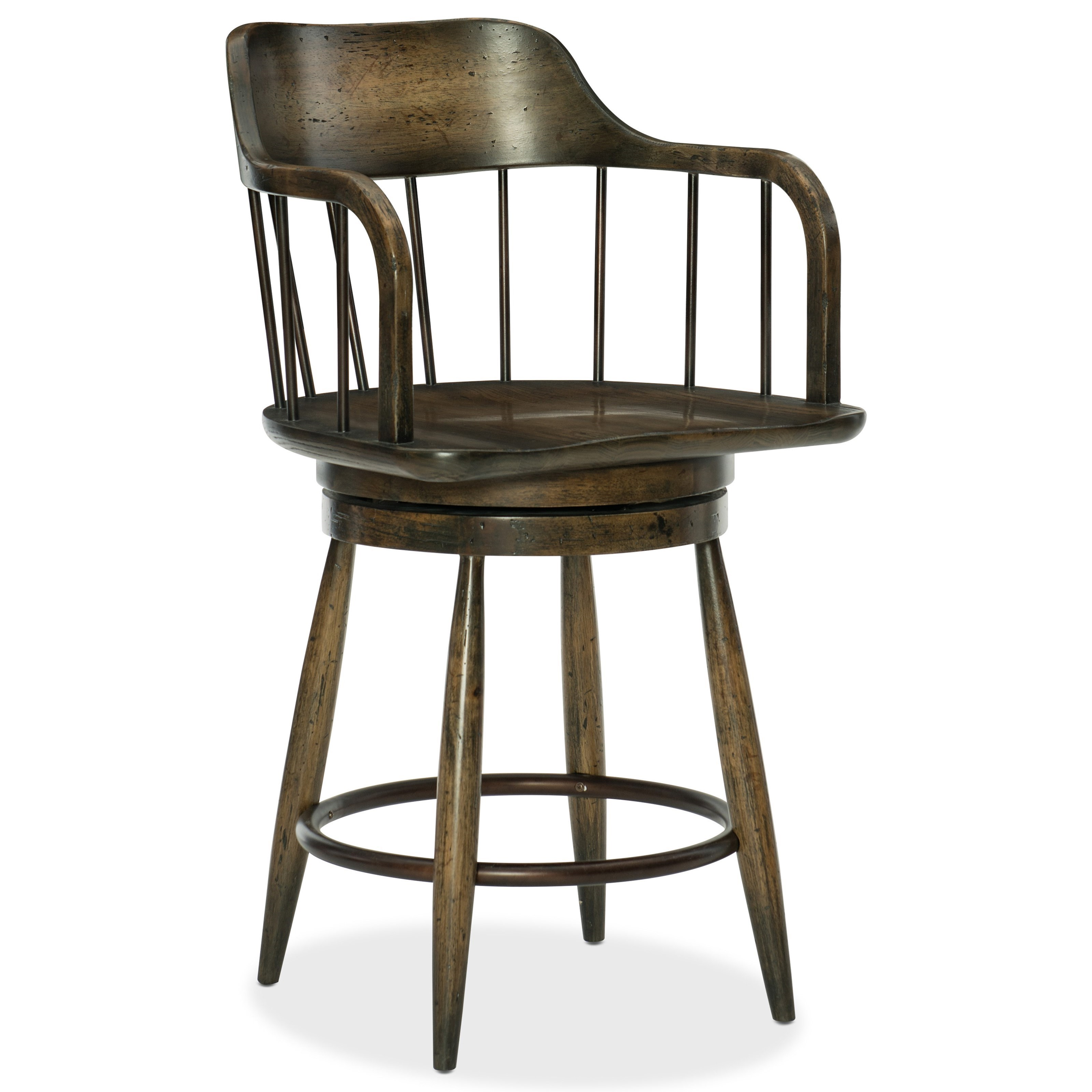 Hooker Furniture American Life-Crafted Counter Stool - Item Number: 1654-25350-DKW1