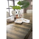 Hooker Furniture American Life-Crafted Rectangle Dining Table with Two 18in. Leaves