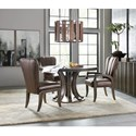 Hooker Furniture American Life-Crafted 4 Piece Table and Chair Set - Item Number: 1654-75203+2x75610+75600-DKW1