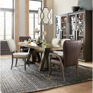 Hooker Furniture American Life-Crafted 7 Piece Table and Chair Set