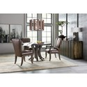 Hooker Furniture American Life-Crafted Leather Side Chair with Decorative Bronze Nailheads