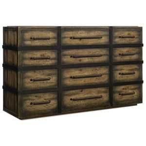 Hooker Furniture American Life-Crafted Twelve-Drawer Dresser