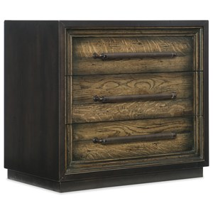 Hooker Furniture American Life-Crafted Metal Wrapped Three-Drawer Nightstand