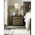 Hooker Furniture American Life-Crafted Metal Wrapped Three-Drawer Nightstand with Outlet and USB Port