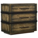 Hooker Furniture American Life-Crafted Three-Drawer Nightstand - Item Number: 1654-90016B-DKW1