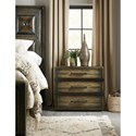 Hooker Furniture American Life-Crafted Three-Drawer Nightstand with Outlet and USB Port