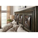 Hooker Furniture American Life-Crafted Queen Panel Bed with Leather Detailing