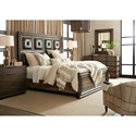 Hooker Furniture American Life-Crafted California King Panel Bed with Leather Detailing