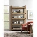 Hooker Furniture American Life-Urban Elevation 5 Shelf Wooden Etagere with Metal Rod Back