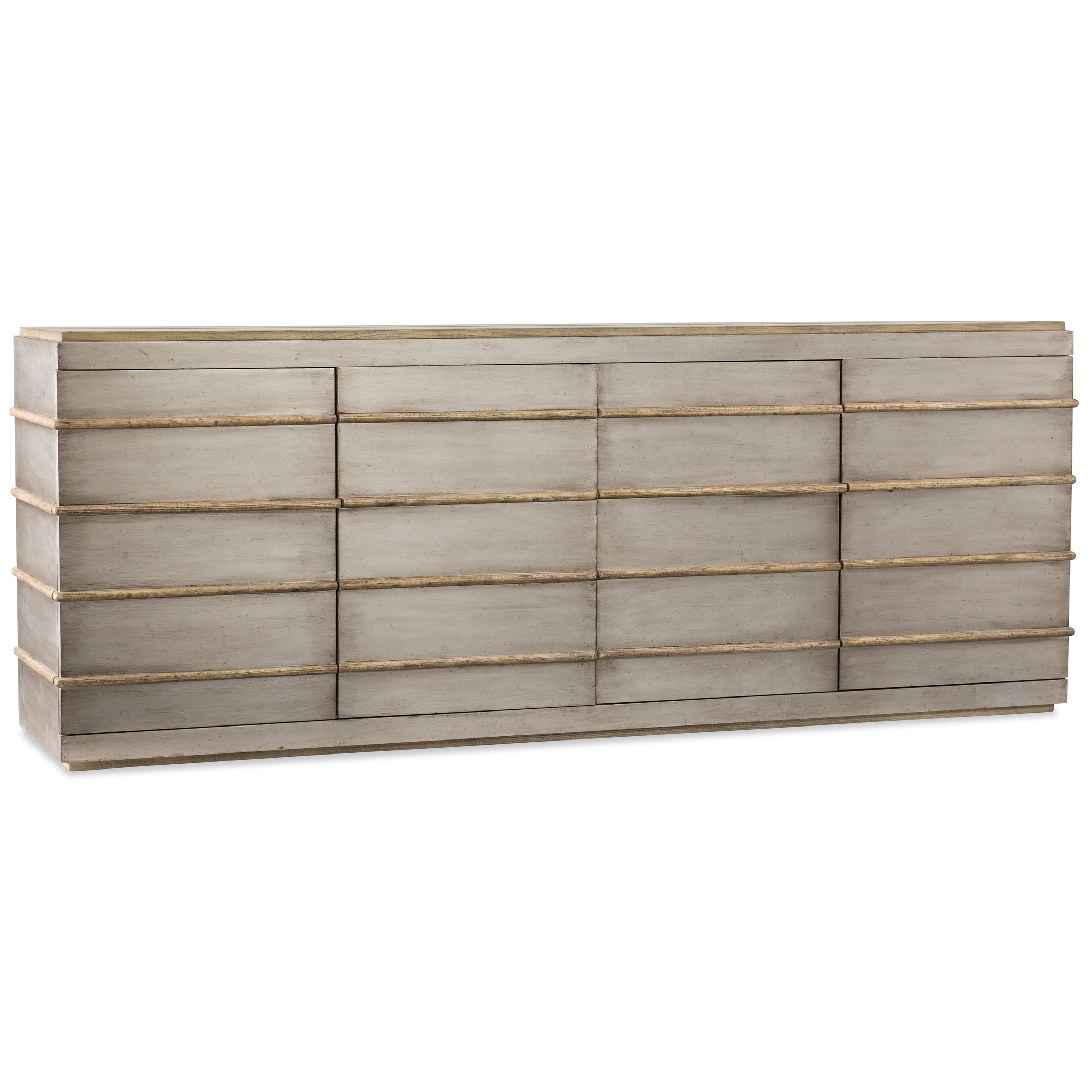 Hooker Furniture American Life-Urban Elevation Metal Entertainment Credenza - Item Number: 1620-55484-LTBR