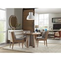 Hooker Furniture American Life-Urban Elevation Table and Chair Set - Item Number: 1620-75213A-LTBR+4x75410