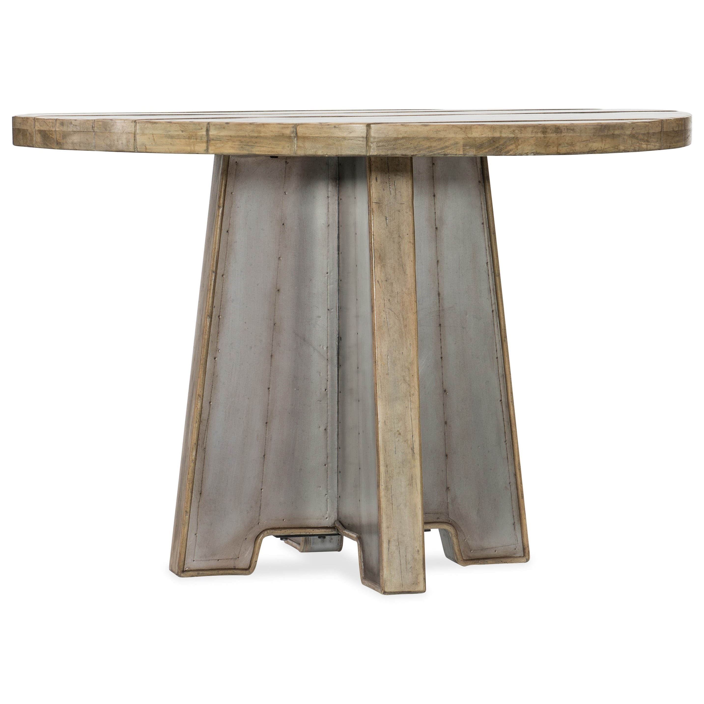 44in Metal Dining Table