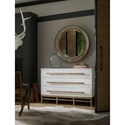 Hooker Furniture American Life-Urban Elevation Three-Drawer Chest with Wooden Bar Pulls