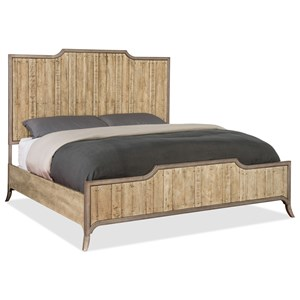 Queen Wood Panel Bed