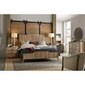 Hooker Furniture American Life-Urban Elevation King Wood Panel Bed with Adjustable Height Headboard