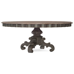 72in Round Pedestal Dining Table