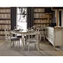 Hooker Furniture Arabella Four-Door Credenza with Eglomise Door Fronts