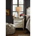 Hooker Furniture Arabella Three-Drawer Nightstand with USB Port and 3 Outlets
