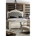 Hooker Furniture Arabella King Upholstered Panel Bed with Tufted Headboard