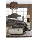Hooker Furniture Arabella California King Upholstered Panel Bed