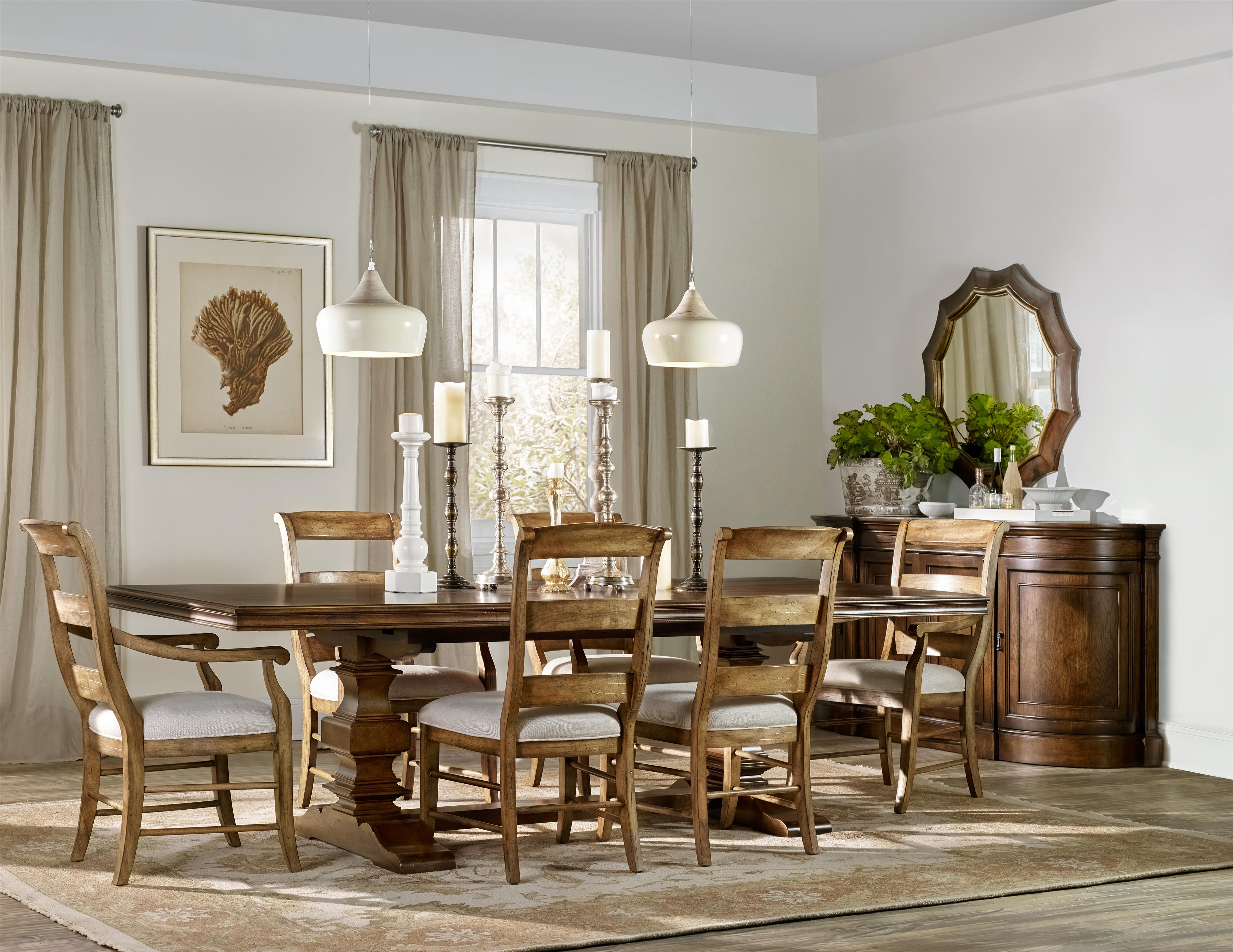 Hamilton Home Sentinel: Pecan Formal Dining Room Group - Item Number: 5447 Dining Room Group 2