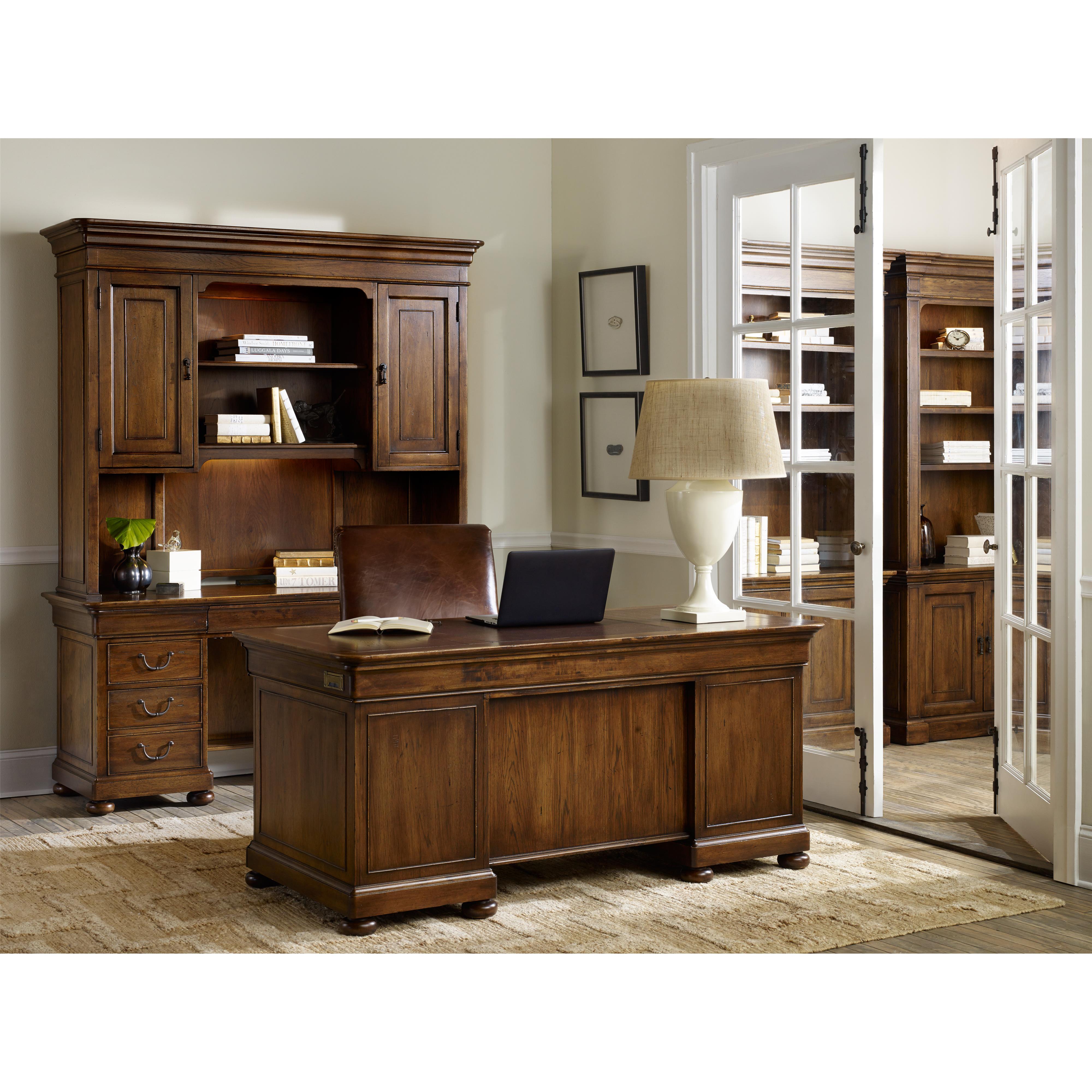 Hooker Furniture Archivist Executive Desk With 2 Locking
