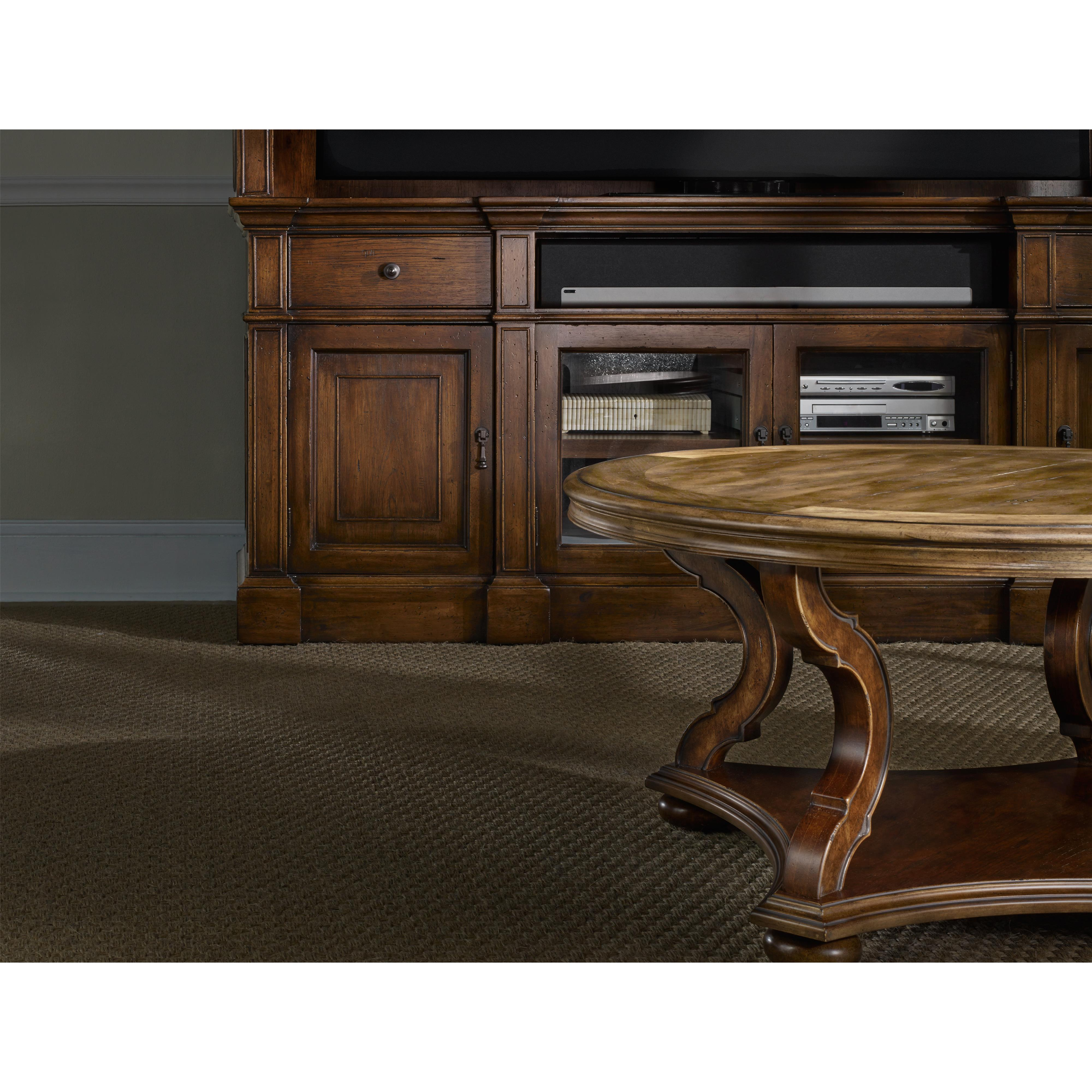 Hooker Furniture Archivist Entertainment Console With Outlets Belfort Furniture Tv Stands