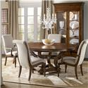 Hooker Furniture Archivist 5 Piece Dining Set - Item Number: 5447-75203+2x75400+2x75410