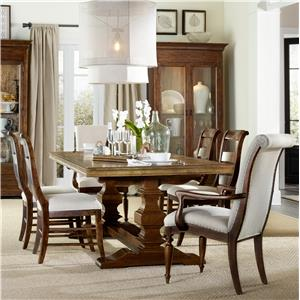 Hamilton Home Sentinel: Pecan 7 Piece Dining Set