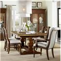 Hooker Furniture Archivist 7 Piece Dining Set - Item Number: 5447-75206-TOFFEE+2x400+4x710